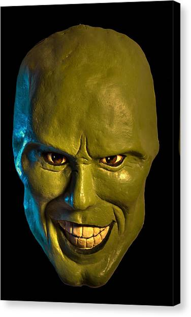 Jim Carrey Canvas Print - The Mask Mask by Salman Ravish