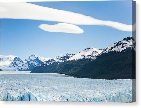 Perito Moreno Glacier Canvas Print - The Massive Perito Moreno Glacier by Mike Theiss