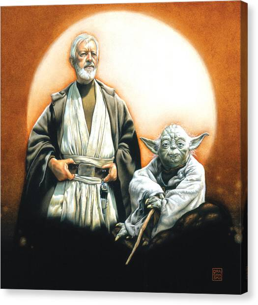Obi-wan Kenobi Canvas Print - The Masters by Edward Draganski
