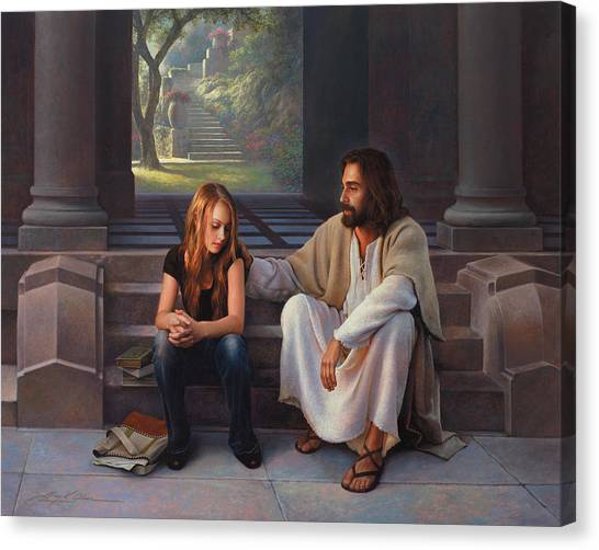 Sin Canvas Print - The Master's Touch by Greg Olsen