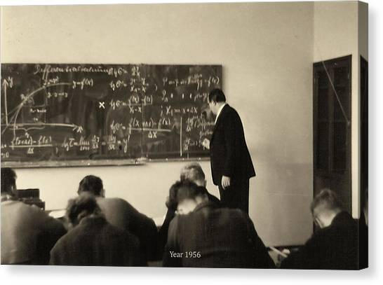 Year 1956 The Math Teacher  Canvas Print
