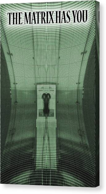 Keanu Reeves Canvas Print - The Matrix Has You by Dan Sproul