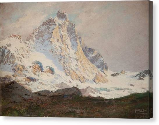 Matterhorn Canvas Print - The Matterhorn, 1910 by Leonardo Roda