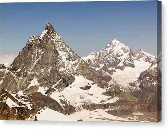 Matterhorn Canvas Print - The Matterhorn Above Zermatt by Ashley Cooper