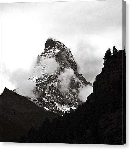 Matterhorn Canvas Print - The Matterhorn As Viewed From Zermatt by Ali Gardezi