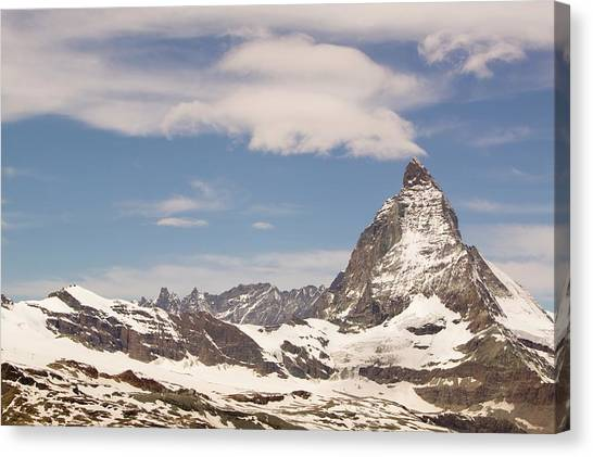 Matterhorn Canvas Print - The Matterhorn In Switzerland by Ashley Cooper