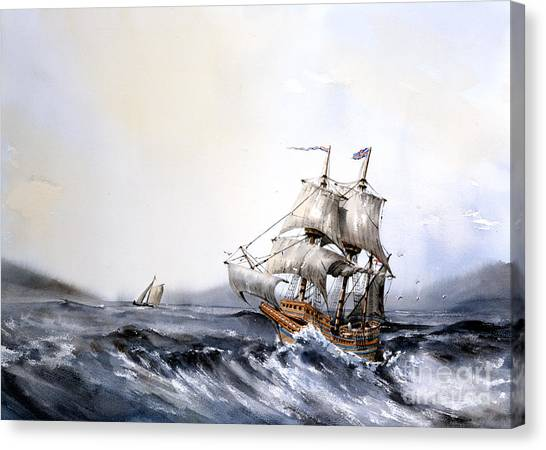 F 822 The Mayflower Canvas Print