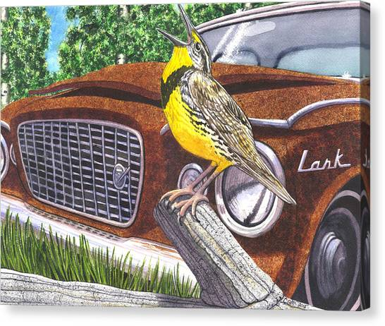 Meadowlarks Canvas Print - The Meadowlarks by Catherine G McElroy