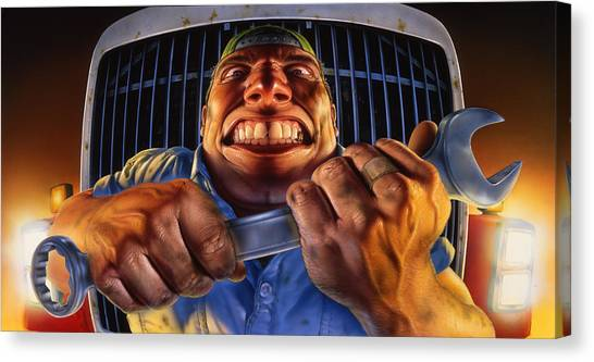 Wrenches Canvas Print - The Mechanic by Mark Fredrickson