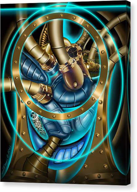 The Mechanical Heart Canvas Print