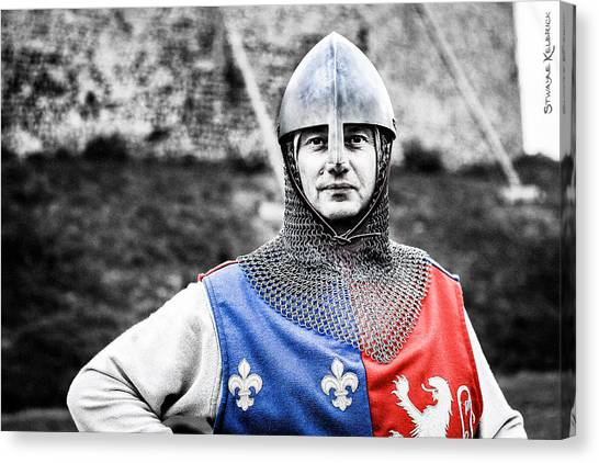 Canvas Print featuring the photograph The Medieval Warrior by Stwayne Keubrick