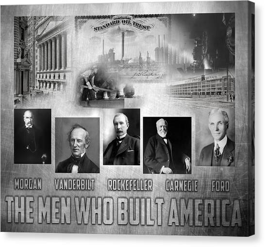 The Men Who Built America Canvas Print by Peter Chilelli