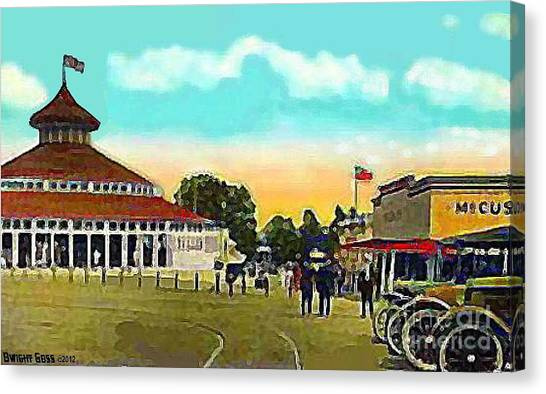 The Merry-go-round At Crescent Park In Providence Ri In 1910 Canvas Print
