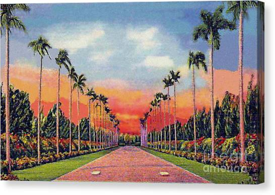 The Miami Jockey Club In Hialeah Fl Canvas Print