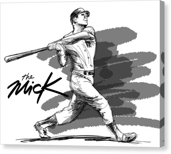 Fast Ball Canvas Print - The Mick by Ron Regalado