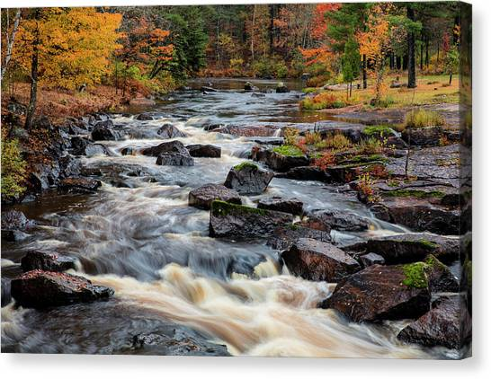 Marquette University Canvas Print - The Middle Branch Of The Escanaba River by Chuck Haney