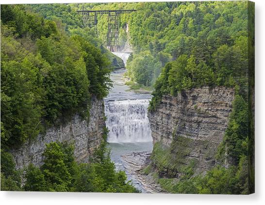 The Middle Falls At Letchworth State Park Canvas Print