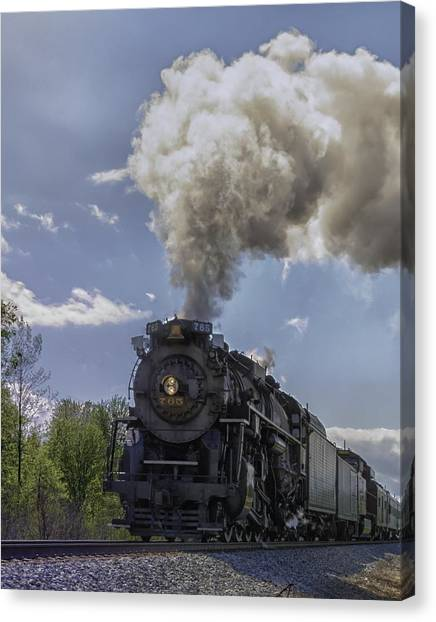 The Mighty 765 Steam Engine Canvas Print