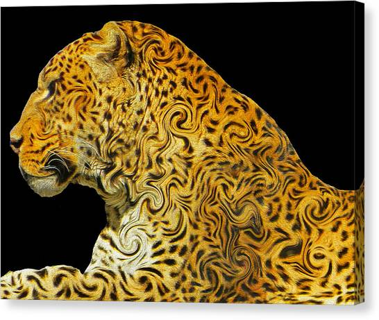 The Mighty Panthera Pardus Canvas Print