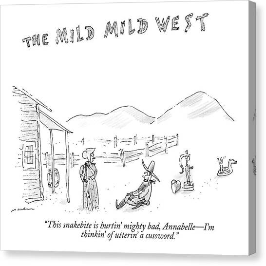 The Mild Mild West. A Cowboy In A Western Setting Canvas Print