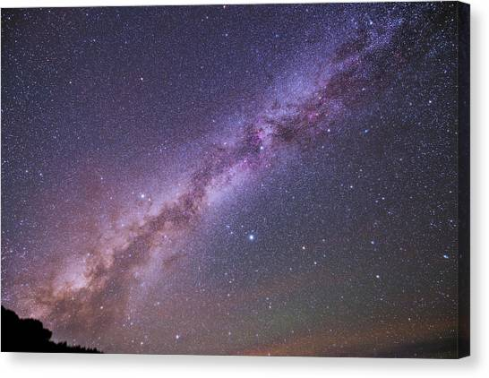 La Galaxy Canvas Print - The Milky Way And Summer Triangle by Babak Tafreshi