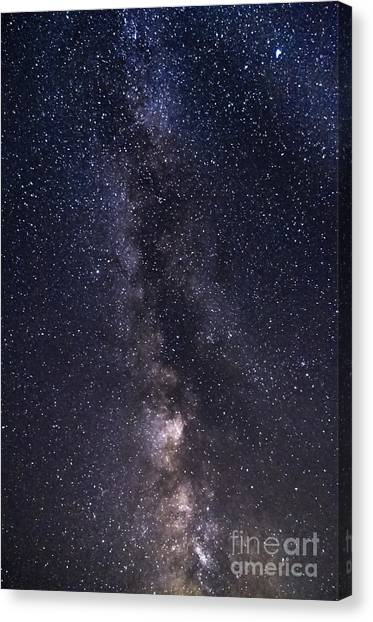 The Milky Way From Phippsburg Maine Usa Canvas Print