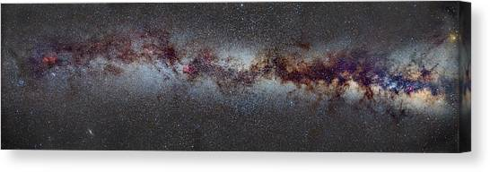 Andromeda Canvas Print - The Milky Way From Scorpio And Antares To Perseus by Guido Montanes Castillo