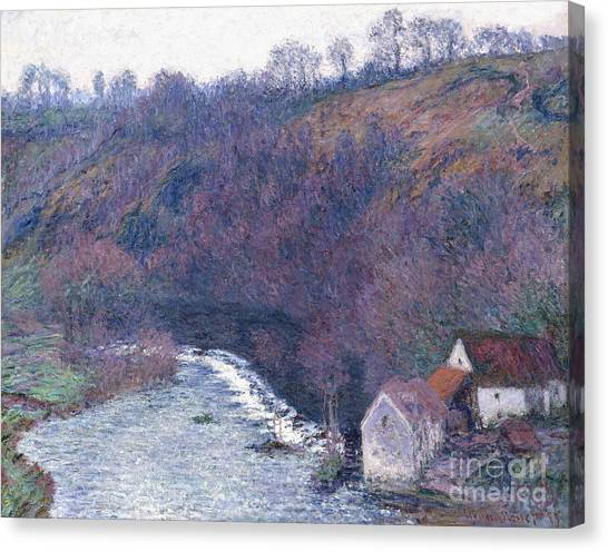 1880s Canvas Print - The Mill At Vervy by Claude Monet