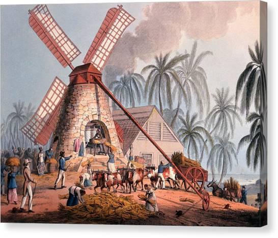 Racism Canvas Print - The Millyard, From Ten Views by William Clark