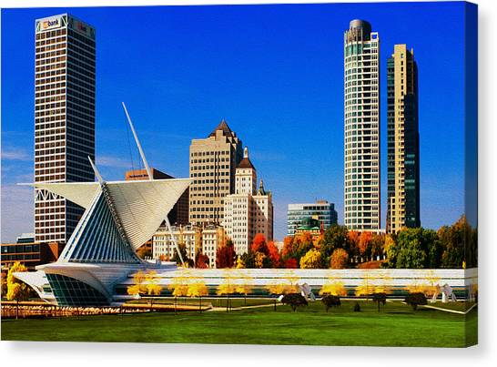 Blend Canvas Print - The Milwaukee Art Museum by Jack Zulli