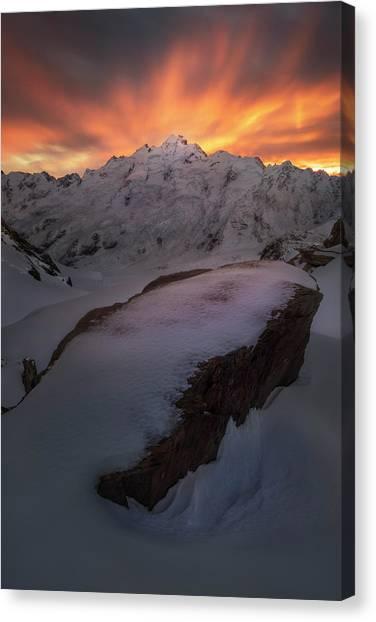 Glaciers Canvas Print - The Minarets by Yan Zhang