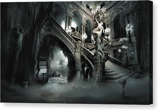 Nude Canvas Print - The Mind Cave by George Grie