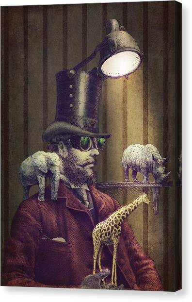 Steampunk Canvas Print - The Miniature Menagerie by Eric Fan