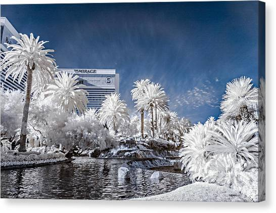 The Mirage In Infrared 1 Canvas Print