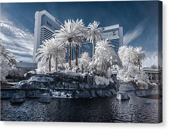 The Mirage In Infrared 2 Canvas Print