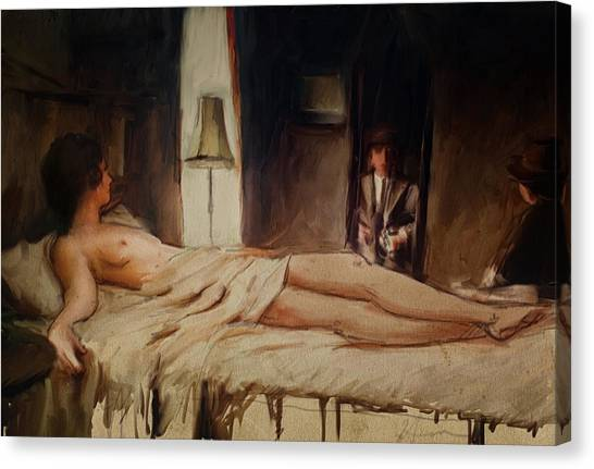Lonliness Canvas Print - The Mirror by H James Hoff