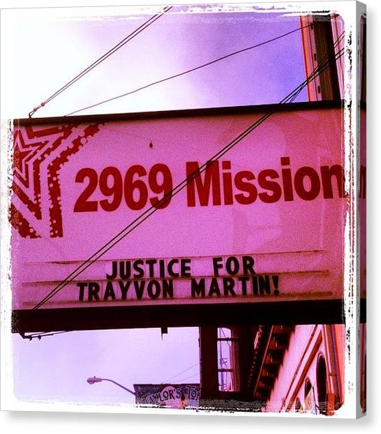 Racism Canvas Print - The Mission District Calls For Justice by Lynn Friedman