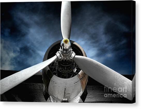 Airplane Canvas Print - The Mission by Olivier Le Queinec