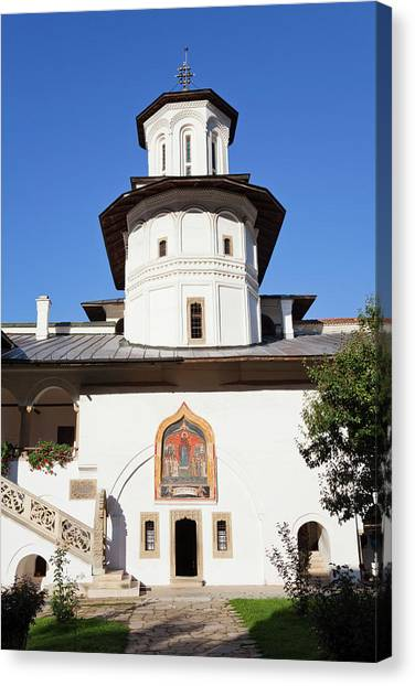 Byzantine Art Canvas Print - The Monastery Of Horezu (hurezi, Horez by Martin Zwick