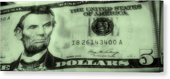 The Money Man Canvas Print