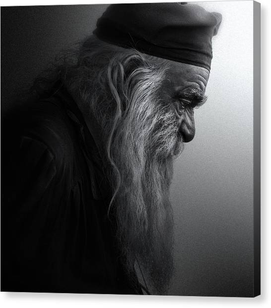 Old Age Canvas Print - The Monk by Robert Semnic