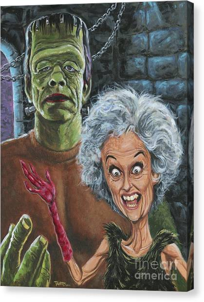 The Monster And His More Intelligent Mate Canvas Print