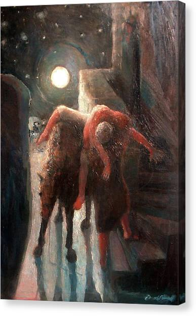 The Moon And The Good Samaritan Canvas Print