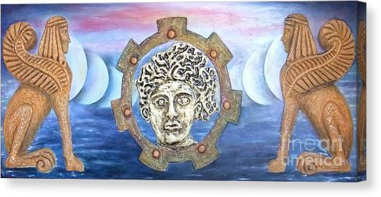 The Moons Of Infinite Time Canvas Print by Anna Maria Guarnieri