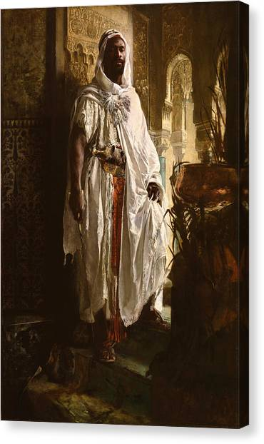 Canvas Print featuring the painting The Moorish Chief by Eduard Charlemont