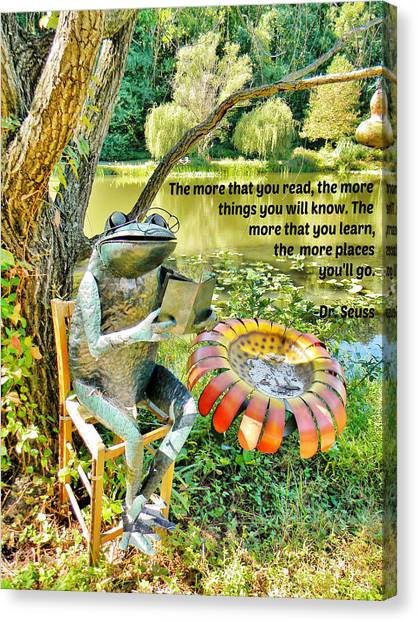 The More That You Read... Canvas Print