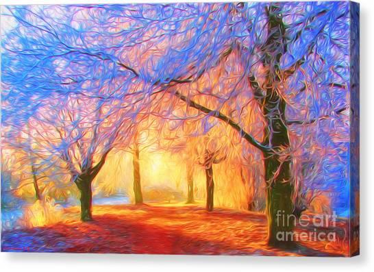 Painterly Canvas Print - The Morning Light by Veikko Suikkanen