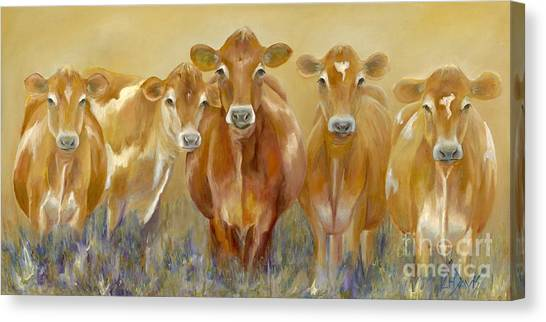 Cow Farms Canvas Print - The Morning Moo by Catherine Davis