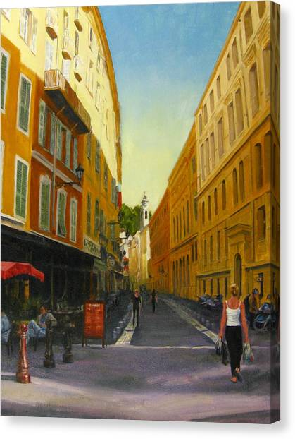 The Morning's Shopping In Vieux Nice Canvas Print