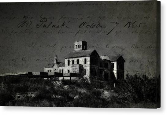 The Haunted House Canvas Print - The Most Haunted House In Spain. Casa Encantada. Welcome To The Hell by Jenny Rainbow
